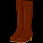 本革のロングブーツのイラスト