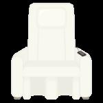白いマッサージチェアのイラスト