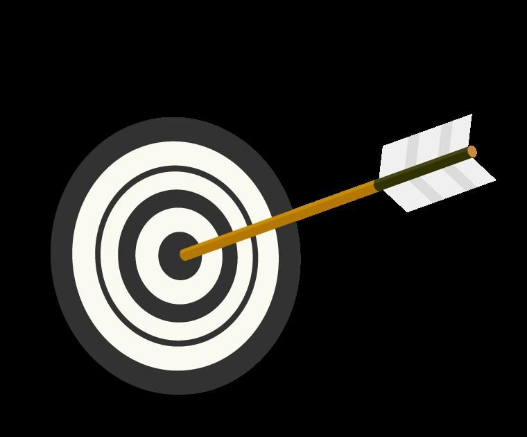 的と矢のイラスト