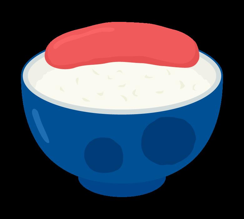 明太子ご飯のイラスト