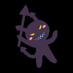 虫歯菌のキャラクターのイラスト