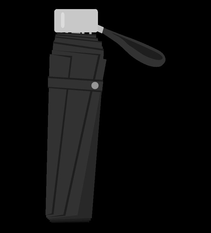 折りたたみ式の傘のイラスト