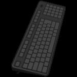 パソコンのキーボードのイラスト02