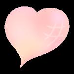 かわいいピンク色のグラデーションのハートのイラスト