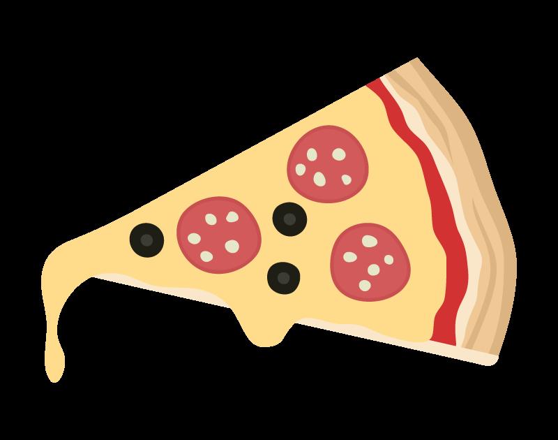 チーズがとろけるピザのイラスト