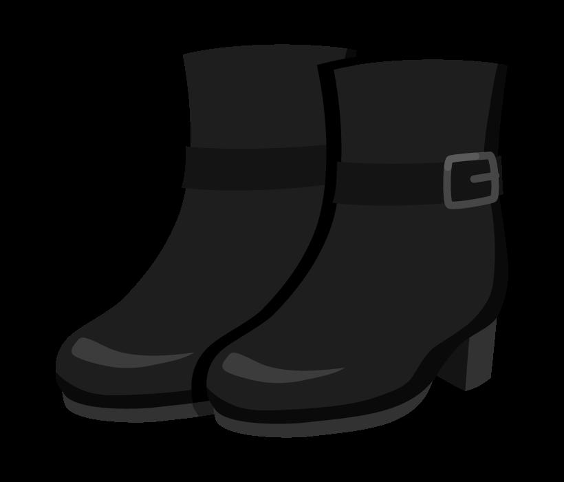 本革のショートブーツのイラスト