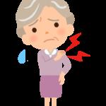 おばあさん(高齢者)の肩の痛みのイラスト