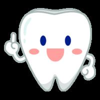 ワンポイントアドバイスをする歯のキャラクターのイラスト