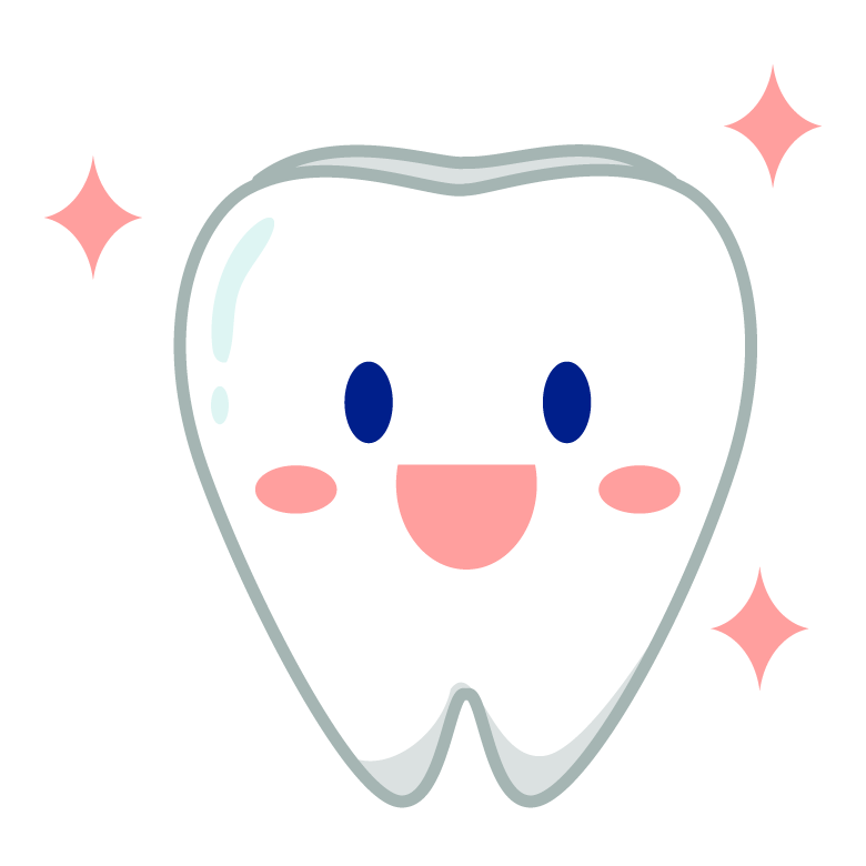 笑顔の歯のキャラクターのイラスト