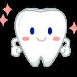 ピカピカの歯のキャラクターのイラスト