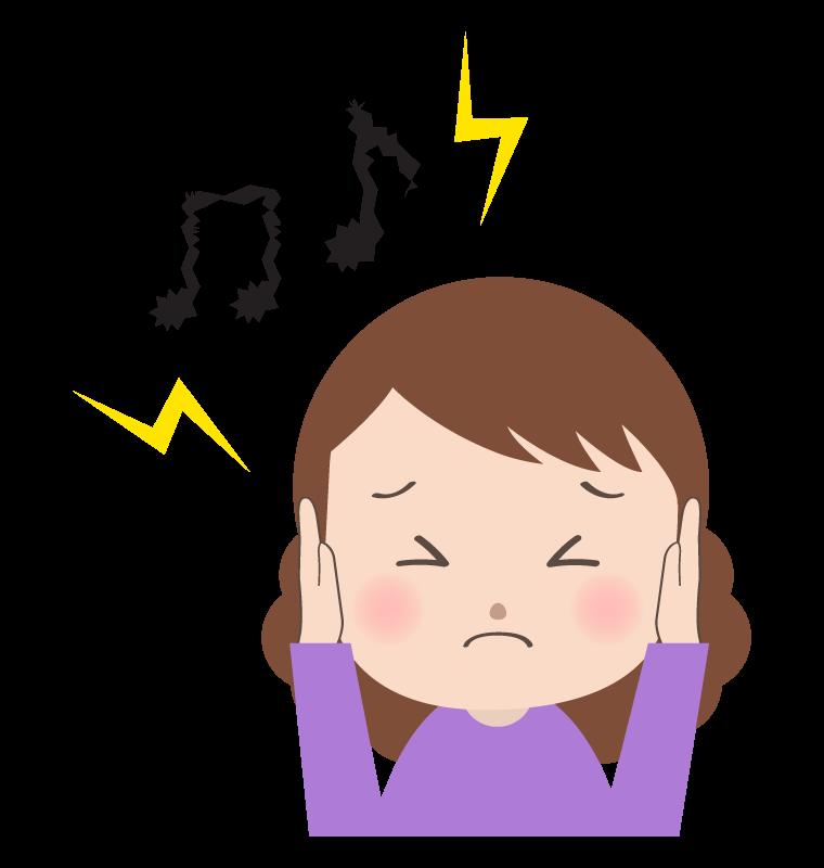 騒音などに耳を塞ぐ女性のイラスト | 無料のフリー素材 イラストエイト