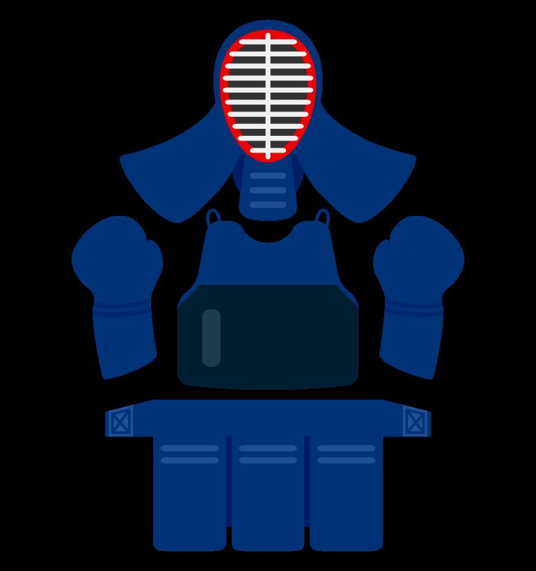 剣道の道具のイラスト