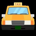 タクシー(正面)のイラスト