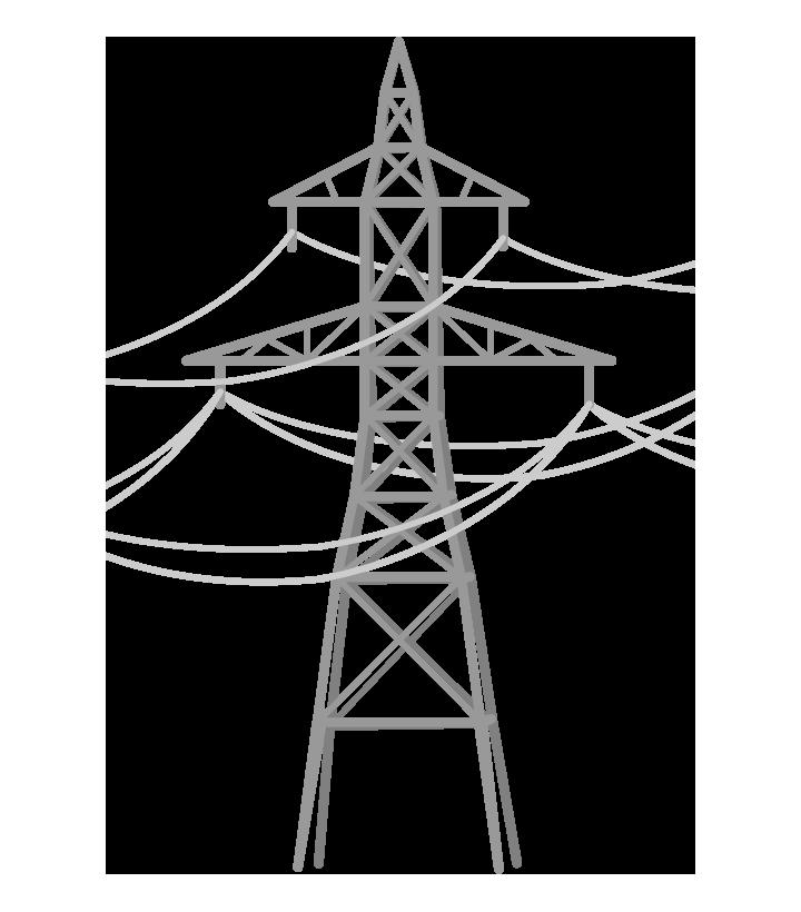 鉄塔のイラスト