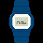 腕時計(デジタルタイプ)のイラスト