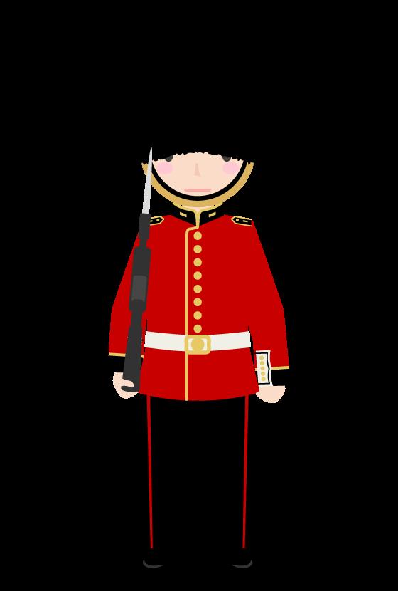 イギリスの近衛兵のイラスト