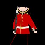 歩くイギリスの近衛兵のイラスト