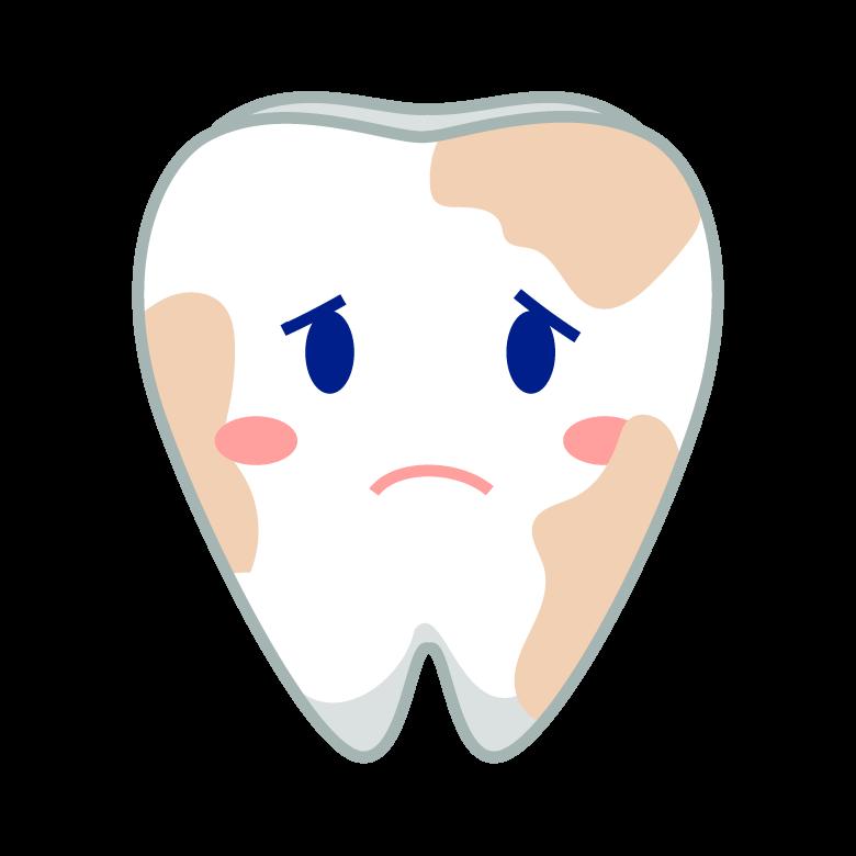 汚れたの歯(歯槽膿漏)のキャラクターのイラスト