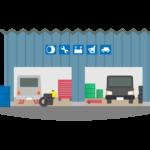 車の整備工場のイラスト
