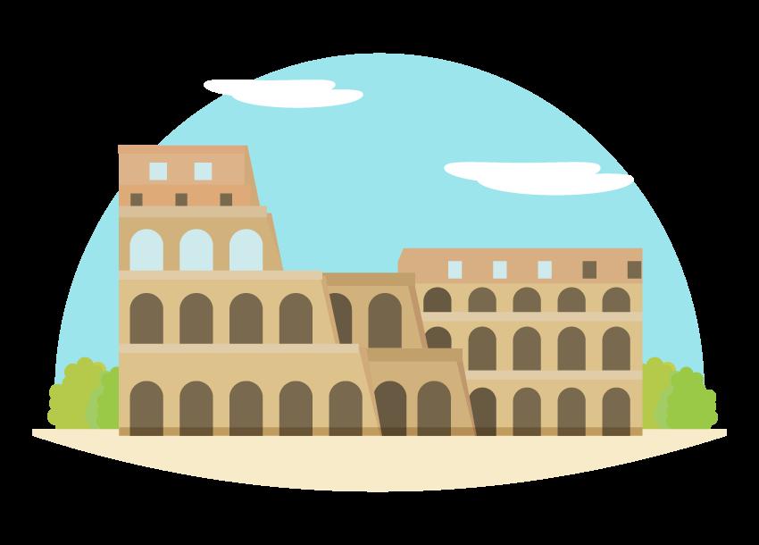 コロッセオのイラスト