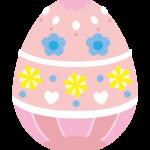 ピンク色のかわいいイースターエッグのイラスト