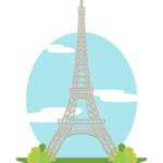 エッフェル塔のイラスト