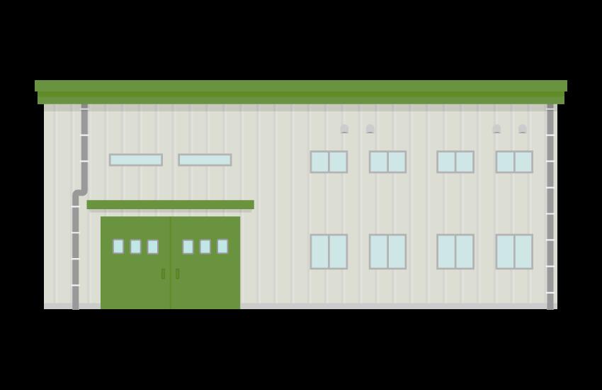 製造工場のイラスト