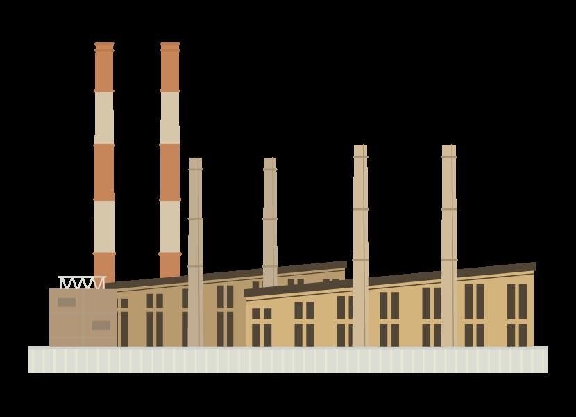 工場・工業のイラスト