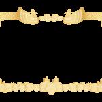 金・ゴールドの賞状の枠(フレーム)のイラスト