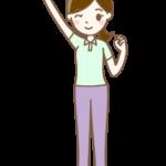 ガッツポーズをする女性介護師さんのイラスト