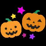 かわいいかぼちゃのお化けのイラスト
