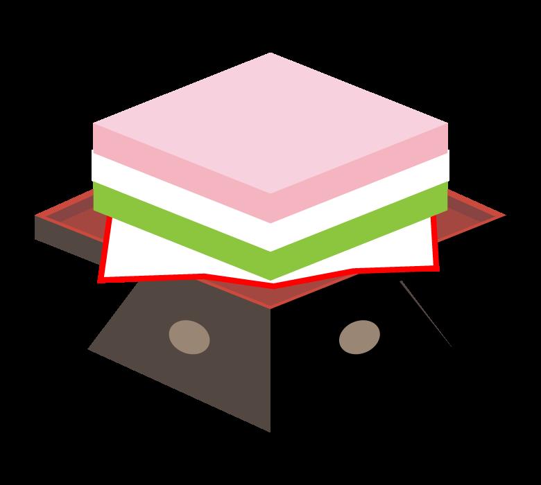 ひな祭りの菱餅のイラスト