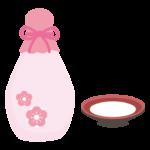 ひな祭りの白酒のイラスト