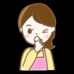 あくびをする主婦のイラスト