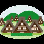茅葺屋根・古い民家のイラスト