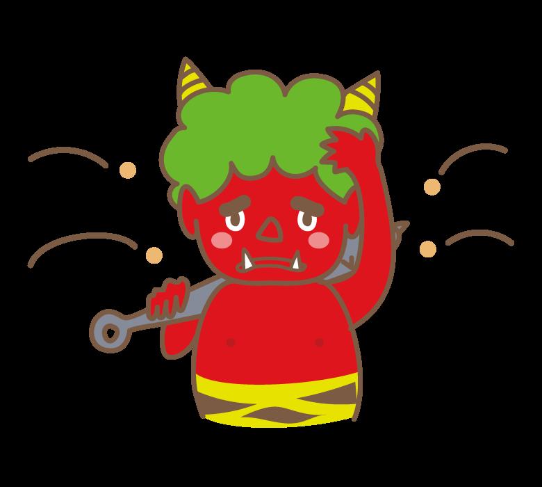 豆まき・赤鬼のイラスト