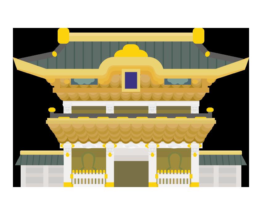 日光東照宮のイラスト