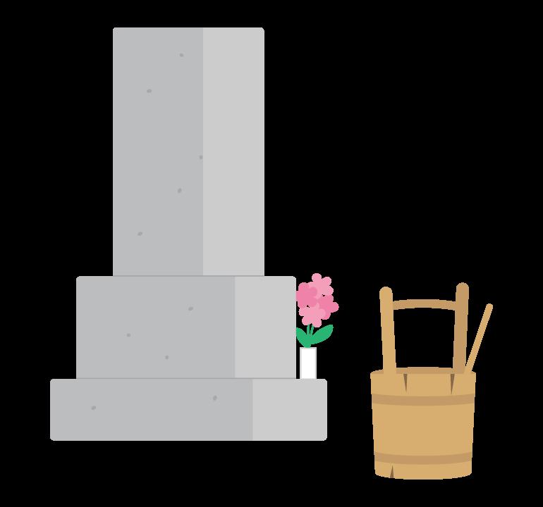 お墓・墓石のイラスト