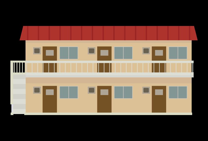 古いアパートのイラスト