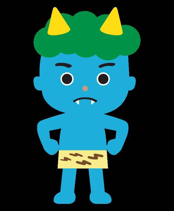 青鬼のイラスト