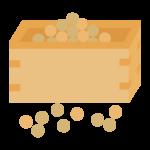 升に入った節分豆のイラスト