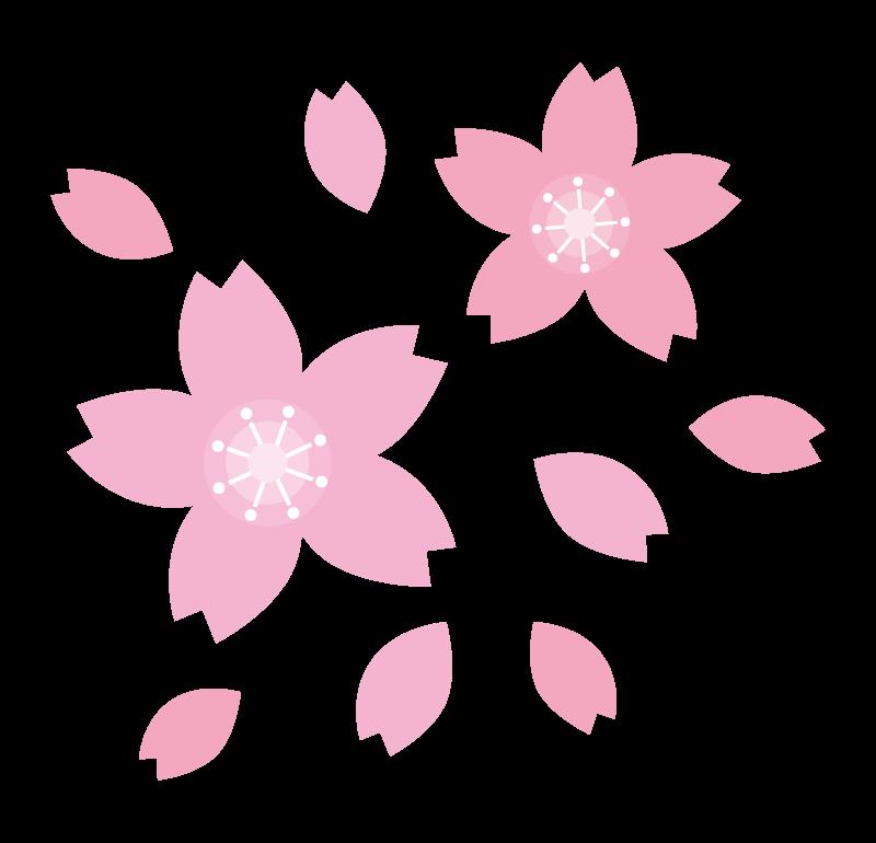 シンプルな桜の花びらのイラスト