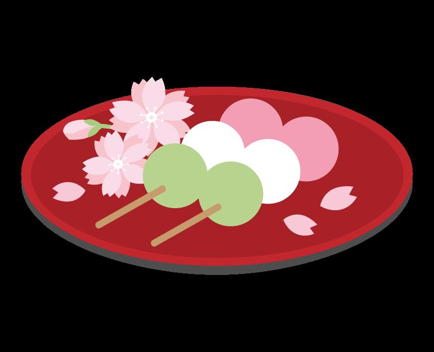 桜と三色団子のイラスト