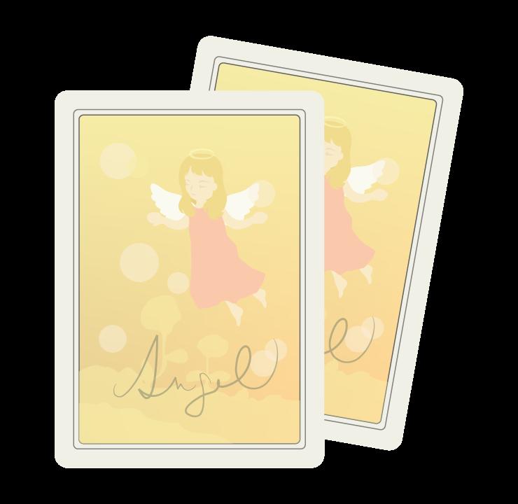 天使のオラクルカードのイラスト