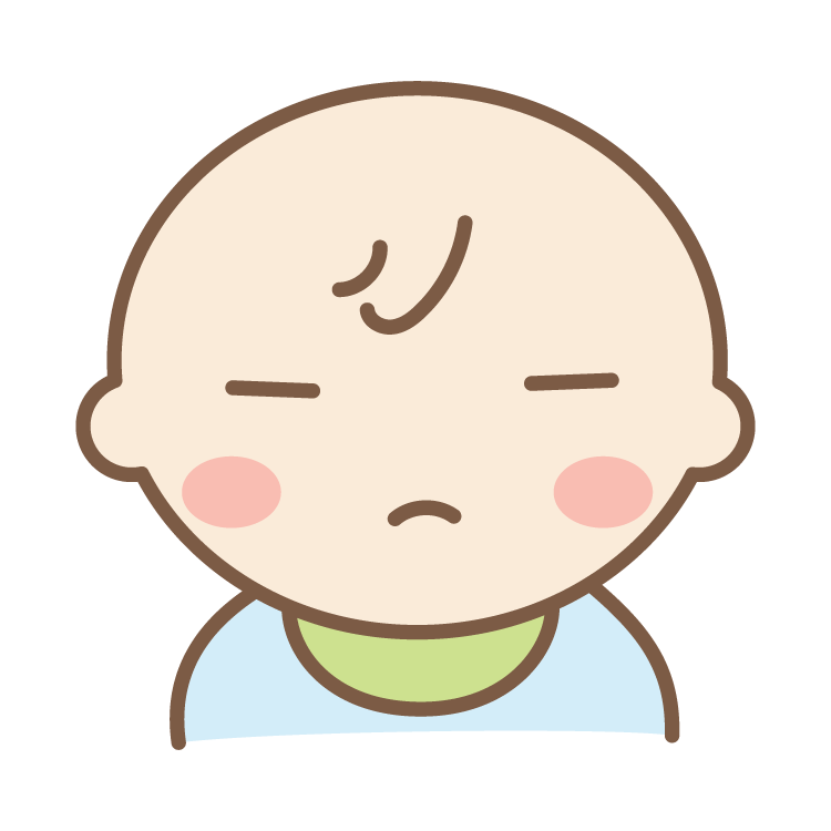 ちゃんのイラスト目を閉じている赤ちゃんのイラスト