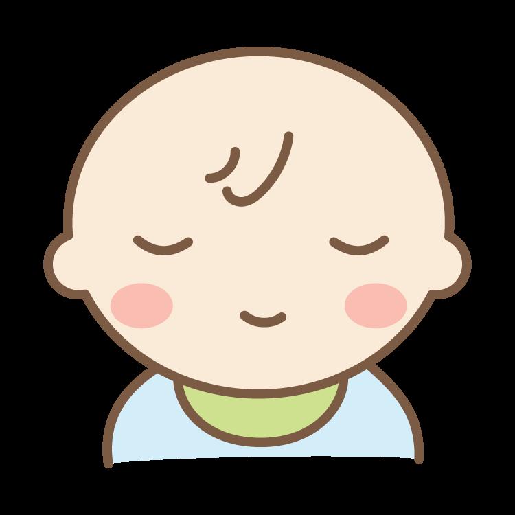 寝ている赤ちゃんのイラスト