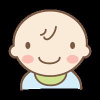 にっこりと笑顔の赤ちゃんのイラスト