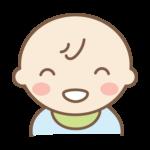 満面の笑みの赤ちゃんのイラスト