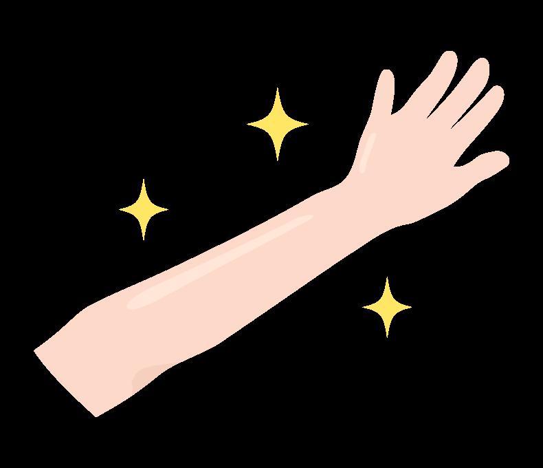 エステ・腕や手の脱毛のイラスト