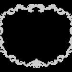 エレガントな線のフレーム・飾り枠のイラスト